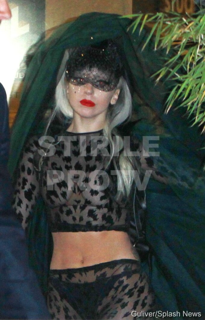 Lady Gaga a plesnit un penis… gonflabil.