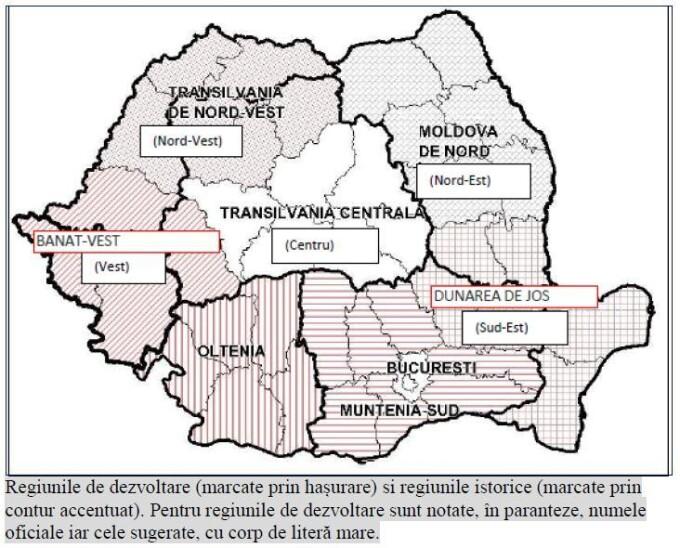 regionalizarea romaniei