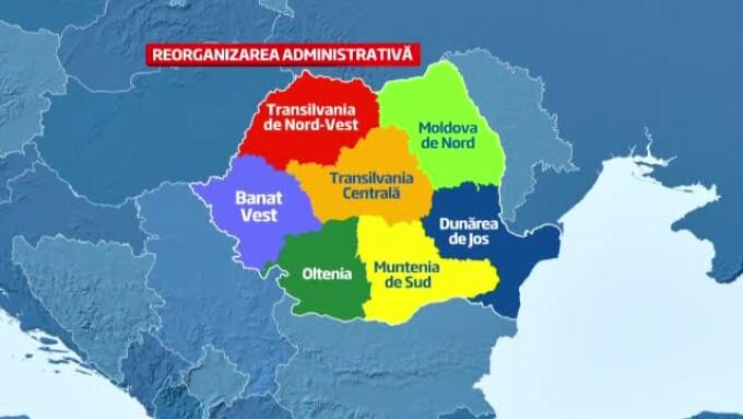 Numele Celor Sapte Regiuni In Care Va Fi Impartita Harta Romaniei