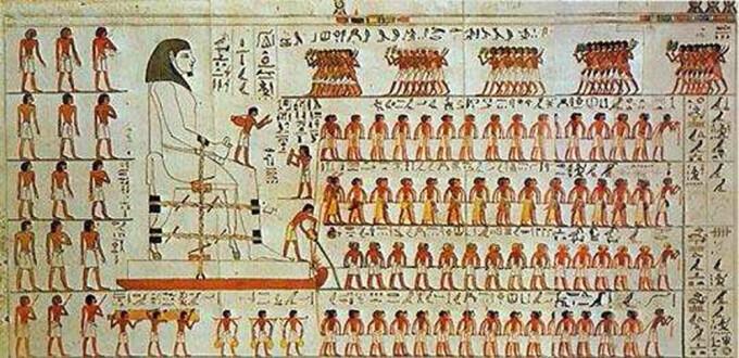 Pictura din mormantul lui Amenhotep