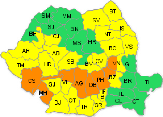 Cluj, ANM, avertizare meteo