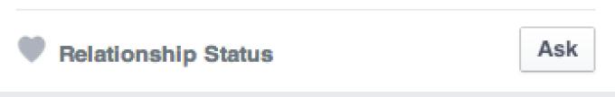 Facebook - stare relatie