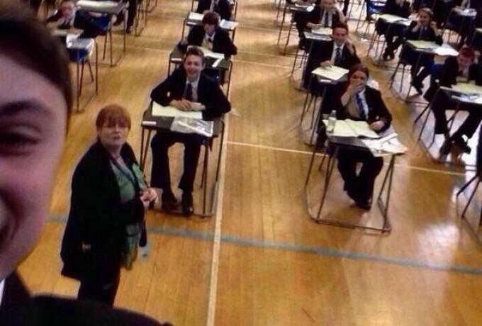 Selfie la examen