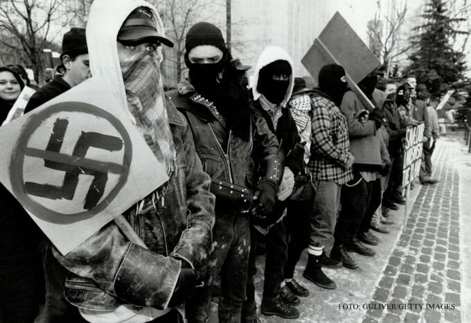 manifestatie rasista Heritage Front 1993