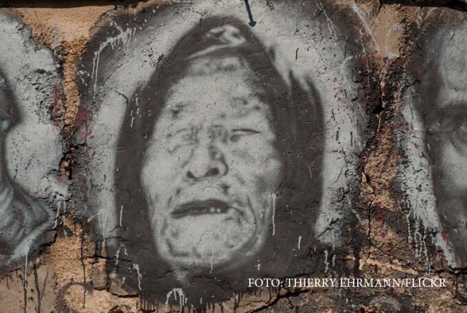 grafitti cu Baba Vanga