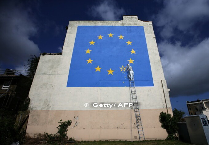 Banksy, dover, Brexit,