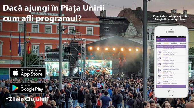 Prima aplicatie mobila pentru Zilele Clujului