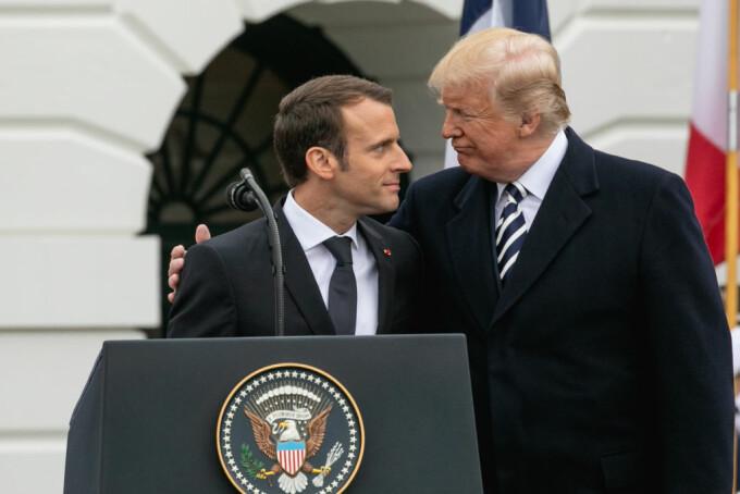 Donad Trump si Emmanuel Macron