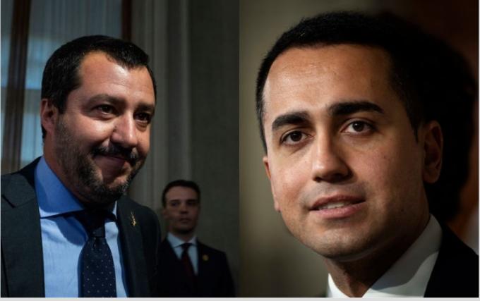 Luigi Di Maio si Matteo Salvini