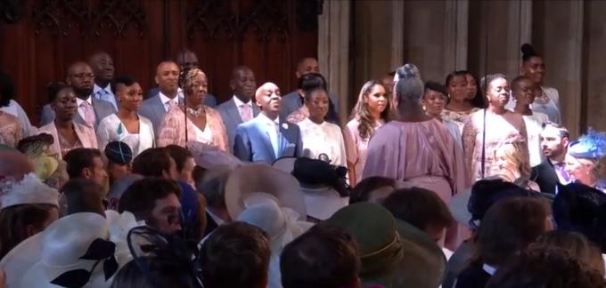 Nunta Regală Momentul în Care Un Cor Gospel Le Cântă Mirilor Stand