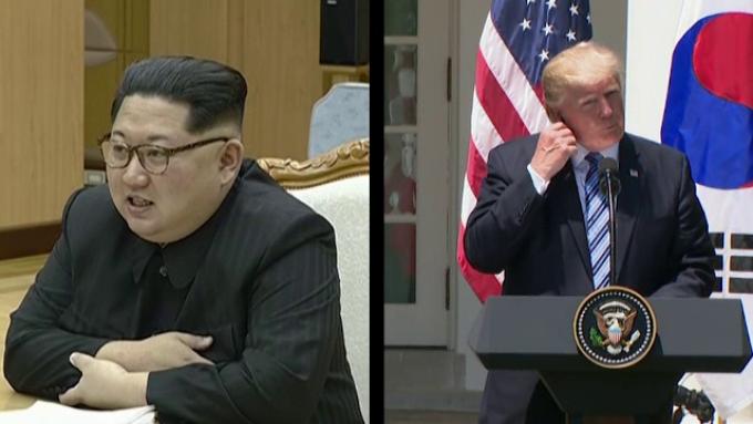 Donald Trump si King Jong-un