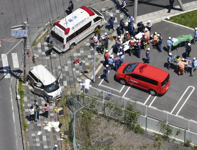 Copii loviti de masina in Japonia