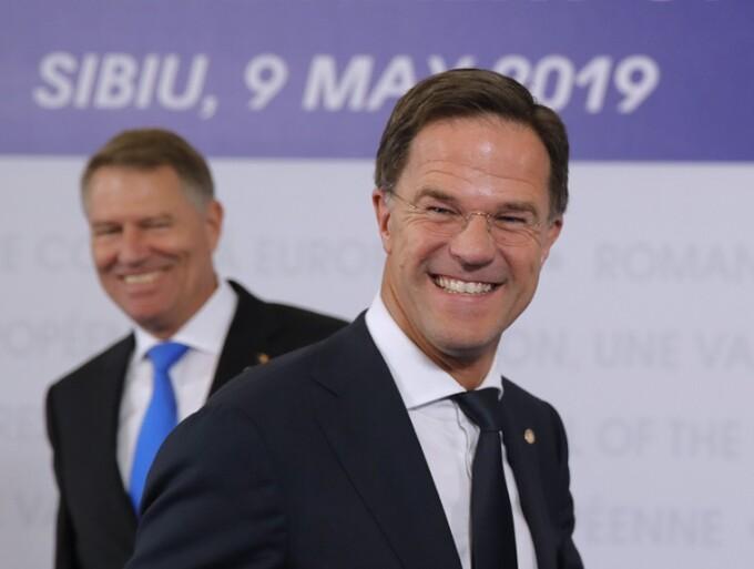 Mark Rutte si Klaus Iohannis