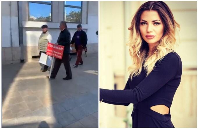 Jurnalista lovita de un participant la mitingul PSD de la Iași