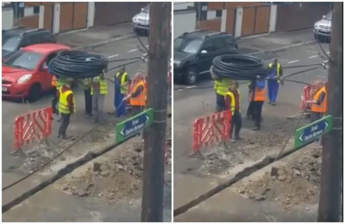 Video cu muncitori români, viral pe Reddit