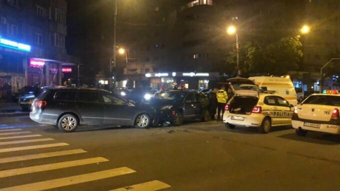 Accident pe o strada din Cluj