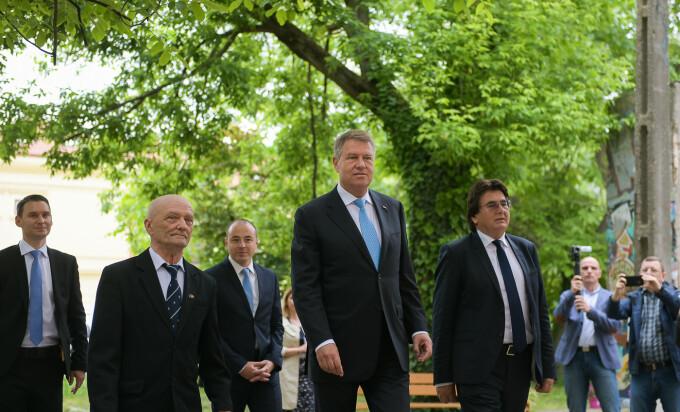 Klaus Iohannis in vizita la Timisoara