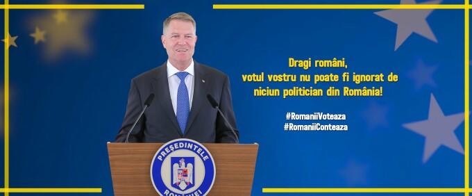 Klaus Iohannis, copertă Facebook