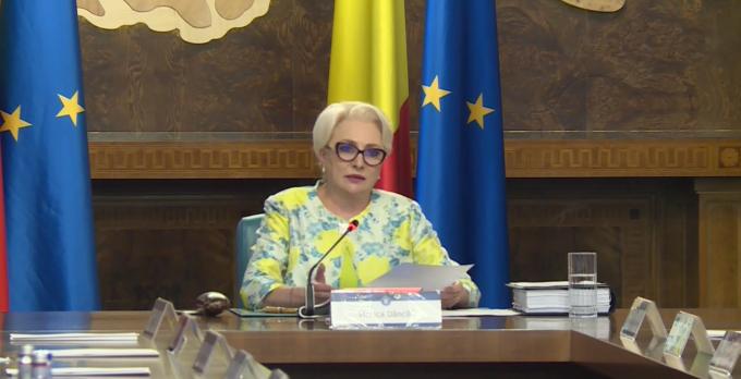 Viorica Dăncilă, ședință de Guvern