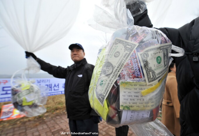 baloane umanitare, Coreea