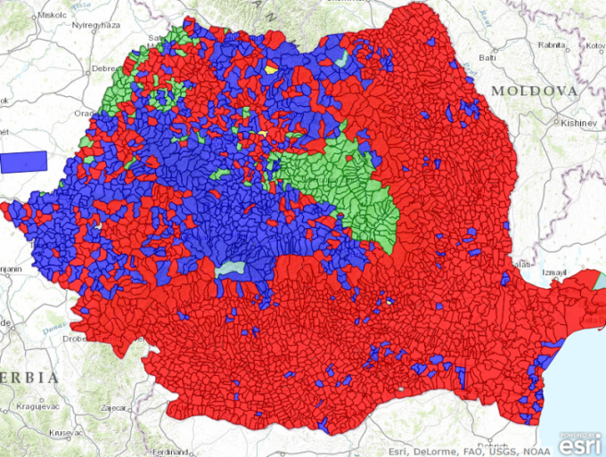 Harta Interactiva Rezultatele Finale Ale Alegerilor Prezidentiale
