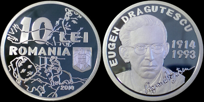 moneda argint de 10 llei Eugen Dragutescu