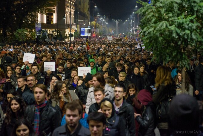 proteste Bucuresti - Doru Oprisan
