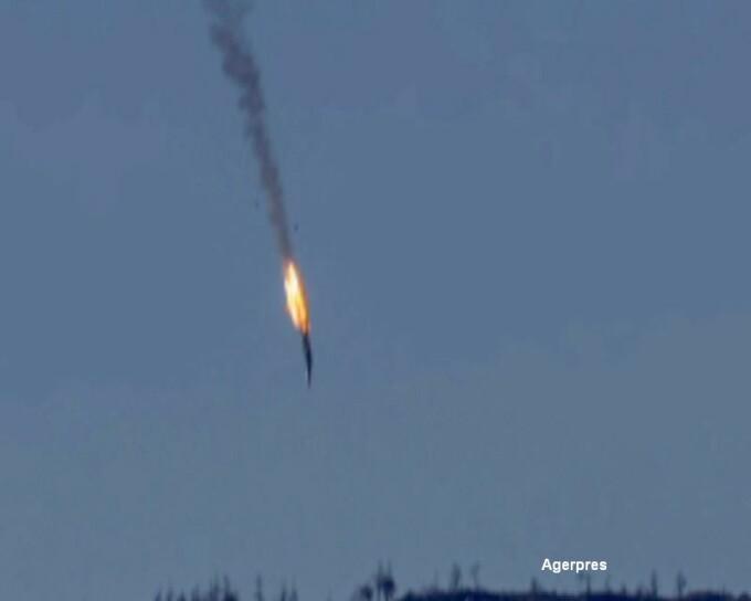 Avion rus doborat de turci