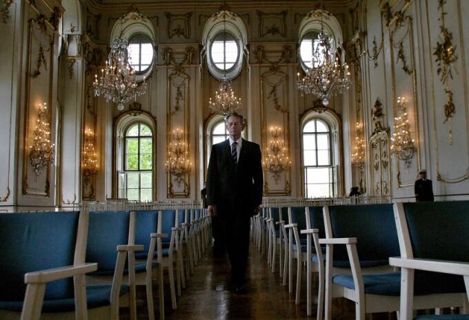 regele Mihai la Castelul Kromeriz, in 2005
