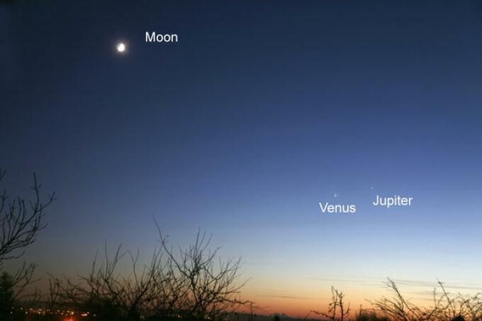 Jupiter și Venus