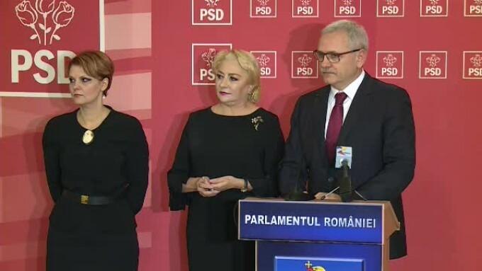 Lia Olguta Vasilescu, Liviu Dragnea, Viorica Dancila