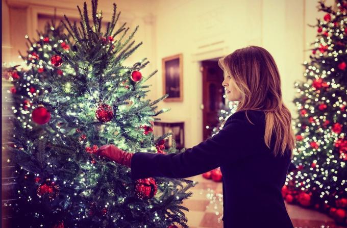 Melania Trump a adus magia Crăciunului la Casa Albă