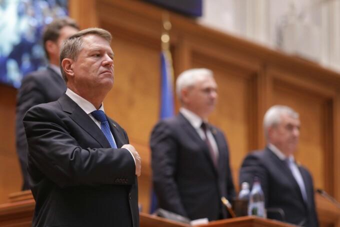 Klaus Iohannis, Liviu Dragnea, Calin Popescu Tariceanu