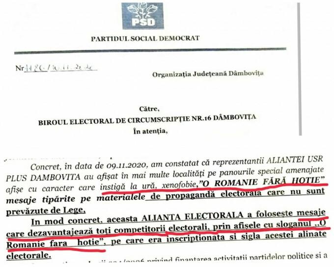contestatie PSD Dambovita