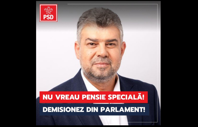 Marcel Ciolacu, demisie, Parlament