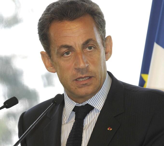 Presedintele francez, Nicholas Sarkozy