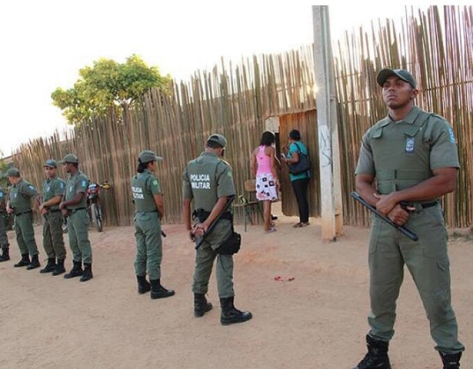 secta din Brazilia, politisti