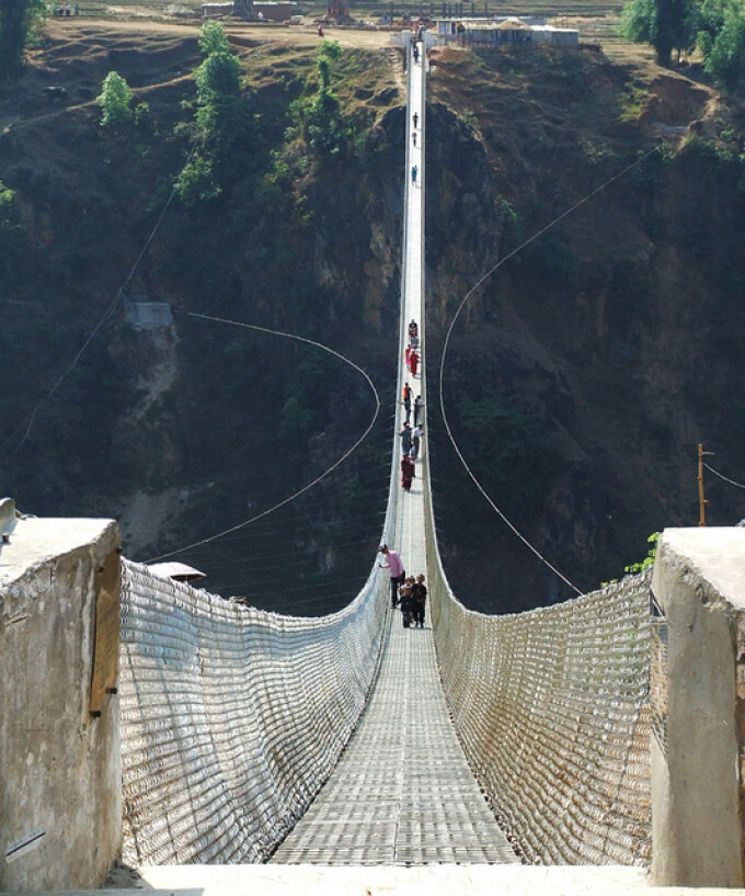 podul Kushma-Gyadi, Nepal