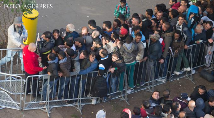 coada de imigranti in Berlin