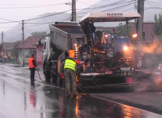 asfaltare ploaie