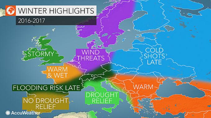 Prognoza Accuweather Pentru Iarna 2016 2017 Temperaturi Peste