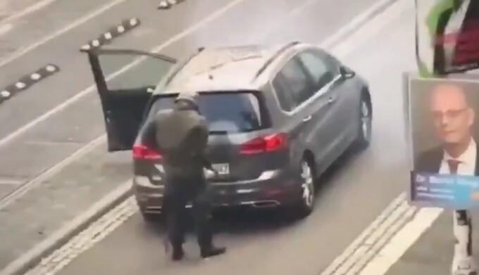 Momentul atacului din Germania surprins de camere