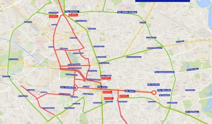 Restricții De Circulație Duminică In Capitală Pentru Maratonul