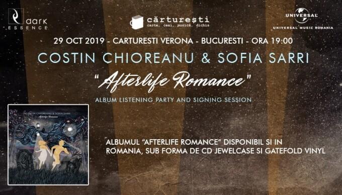 """Costin Chioreanu și Sofia Sarri lansează """"Afterlife Romance"""", un album synth cu accente goth"""