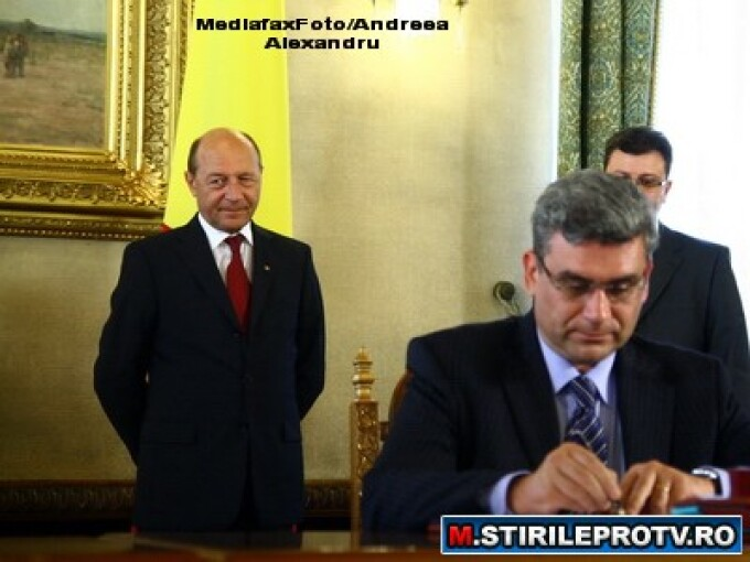 Traian Basescu si Teodor Baconschi