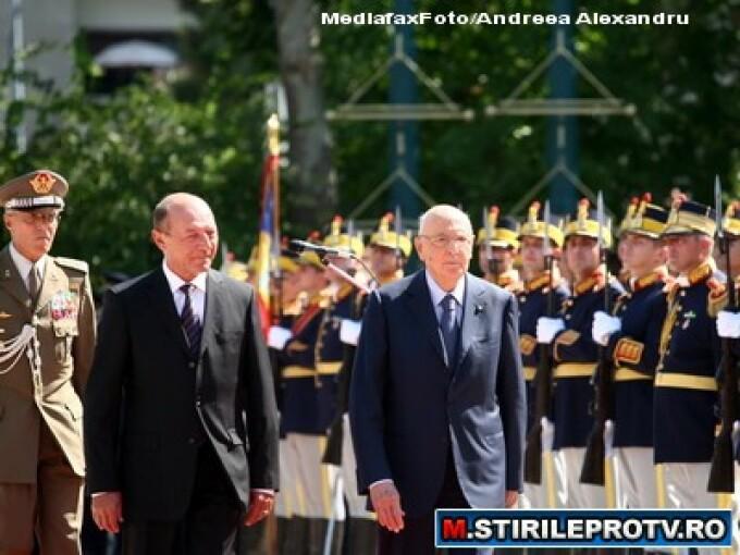 Traian Basescu si Giorgio Napolitano