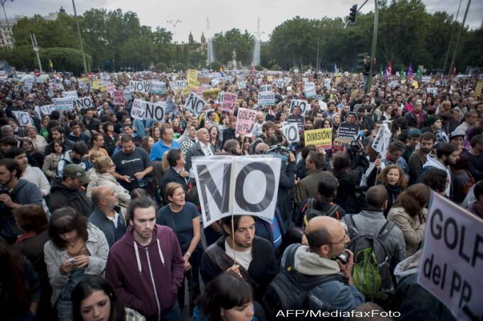 proteste Spania, Madrid