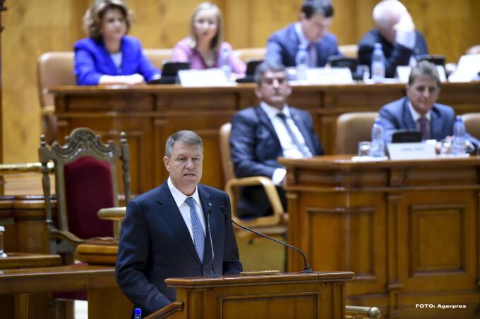 Klaus Iohannis in Parlament - AGERPRES