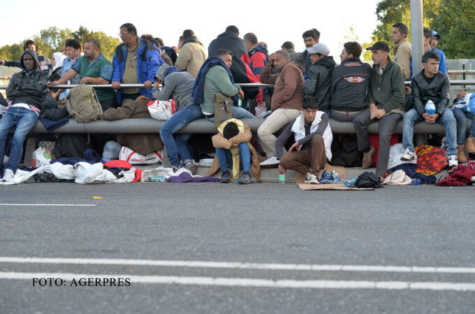 refugiati la granita dintre AUstria si germania