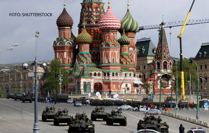 parada militara la Kremlin